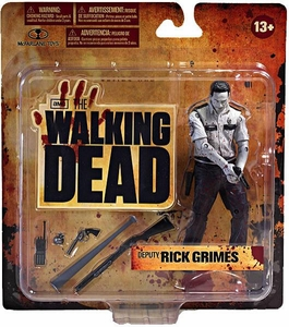 McFarlane Toys Walking Dead TV Series 1 Exclusive Action Figure Deputy Rick Grimes [Bloody Black & White]