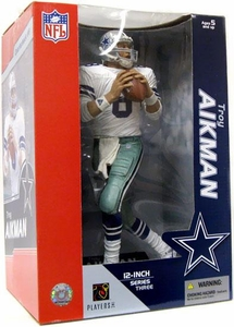 McFarlane Toys NFL Sports Picks 12 Inch Deluxe Action Figure Troy Aikman (Dallas Cowboys) White Jersey