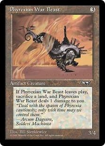 Magic the Gathering Alliances Single Card Common Phyrexian War Beast [Random Artwork]