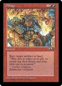 Magic the Gathering Alliances Single Card Uncommon Pillage Played Condition