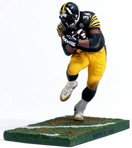 McFarlane Toys NFL Sports Picks 12 Inch Deluxe Action Figure Jerome Bettis (Pittsburgh Steelers) Black Jersey Damaged Package