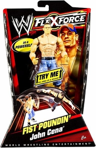 Mattel WWE Wrestling FlexForce Fist Poundin Action Figure John Cena [Jean Shorts & Orange Armbands]