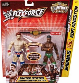 Mattel WWE Wrestling Exclusive FlexForce Champions Action Figure 2-Pack Fist Poundin' Sheamus VS. Hook Throwin Kofi Kingston