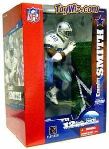 McFarlane Toys NFL Sports Picks 12 Inch Deluxe Action Figure Emmitt Smith (Dallas Cowboys) White Jersey