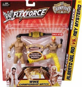 Mattel WWE Wrestling Exclusive FlexForce Champions Action Figure 2-Pack Flip Kickin Alberto Del Rio VS. Swing Kickin Rey Mysterio