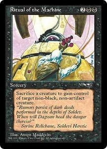 Magic the Gathering Alliances Single Card Rare Ritual of the Machine