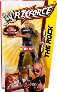 Mattel WWE Wrestling FlexForce Hook Throwin The Rock BLOWOUT SALE!