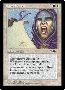 Magic the Gathering Alliances Single Card Rare Royal Decree