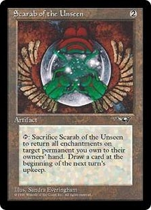 Magic the Gathering Alliances Single Card Uncommon Scarab of the Unseen