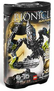 LEGO Bionicle STARS Set #7136 Skrall [Black]
