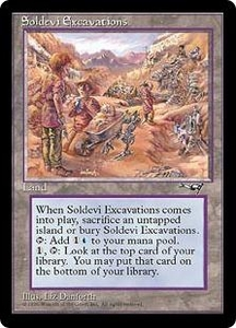 Magic the Gathering Alliances Single Card Rare Soldevi Excavations