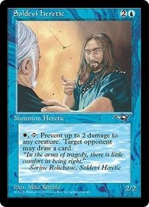 Magic the Gathering Alliances Single Card Common Soldevi Heretic [Random Artwork]
