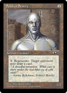 Magic the Gathering Alliances Single Card Common Soldevi Sentry [Random Artwork]