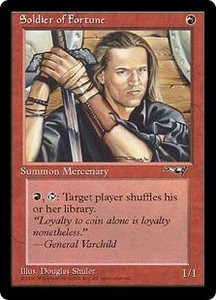 Magic the Gathering Alliances Single Card Uncommon Soldier of Fortune