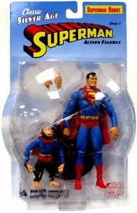 DC Direct Silver Age Superman Action Figure Robot Superman with Beppo the Super Monkey