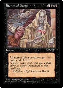 Magic the Gathering Alliances Single Card Common Stench of Decay [Random Artwork]
