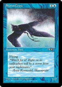Magic the Gathering Alliances Single Card Common Storm Crow [Random Artwork]