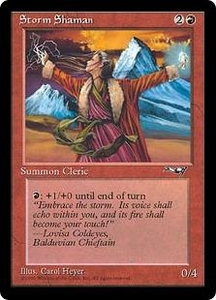 Magic the Gathering Alliances Single Card Common Storm Shaman [Random Artwork]