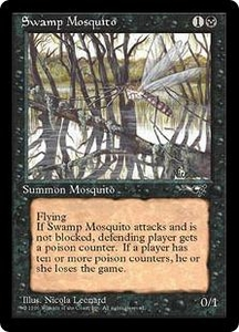 Magic the Gathering Alliances Single Card Common Swamp Mosquito [Random Artwork]