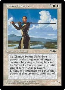 Magic the Gathering Alliances Single Card Rare Sworn Defender