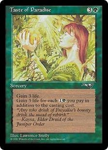 Magic the Gathering Alliances Single Card Common Taste of Paradise [Random Artwork]