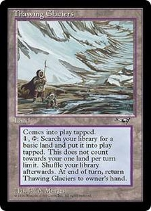 Magic the Gathering Alliances Single Card Rare Thawing Glaciers