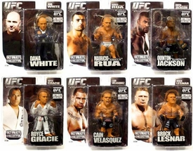 Round 5 UFC Ultimate Collector Series 4 Set of 6 Action Figures [Lesnar, Q. Jackson, Gracie, White, Velasquez & Rua]