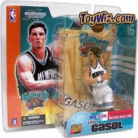McFarlane Toys NBA Sports Picks Series 3 Action Figure Pau Gasol (Memphis Grizzlies) White Jersey Variant BLOWOUT SALE!
