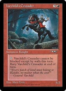 Magic the Gathering Alliances Single Card Common Varchild's Crusader [Random Artwork]
