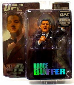 Round 5 UFC Ultimate Collector Series 4 LIMITED EDITION Action Figure Bruce Buffer [White Tie] Only 1,000 Made!