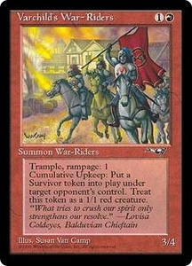 Magic the Gathering Alliances Single Card Rare Varchild's War-Riders