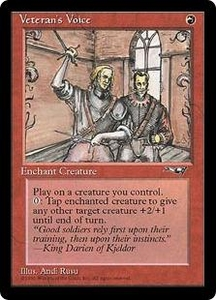 Magic the Gathering Alliances Single Card Common Veteran's Voice [Random Artwork]