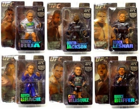 Round 5 UFC Ultimate Collector Series 4 LIMITED EDITION Set of 6 Action Figures [Lesnar, Q. Jackson, Gracie, Buffer, Velasquez & Rua] Only 1,000 Sets Exist!
