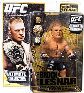 Round 5 UFC Ultimate Collector Series 4 CHAMPIONSHIP EDITION Action Figure Brock Lesnar with Belt!