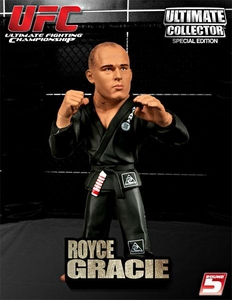 Round 5 UFC Ultimate Collector VARIANT Action Figure Royce Gracie [Grey Gi] Only 2,000 Made!