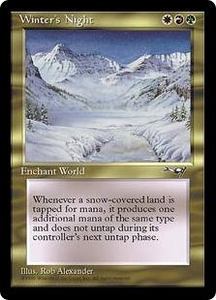 Magic the Gathering Alliances Single Card Rare Winter's Night