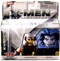 Marvel MiniMates Series 14 X-Men 3: The Last Stand Mini Figure 2-Pack Juggernaut & Beast