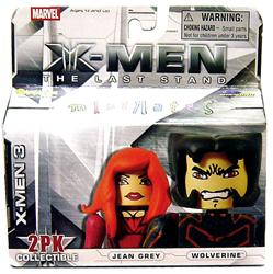 Marvel MiniMates Series 14 X-Men 3: The Last Stand Mini Figure 2-Pack Wolverine & Jean Grey