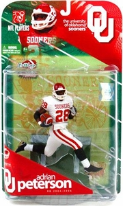 McFarlane Toys NCAA COLLEGE Football Sports Picks Series 1 Action Figure Adrian Peterson (Oklahoma Sooners) White Jersey Variant