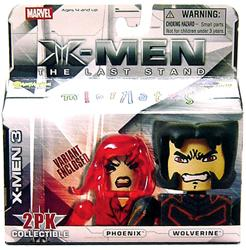 Marvel MiniMates Series 14 X-Men 3: The Last Stand Mini Figure 2-Pack Wolverine & Jean Grey [Variant]