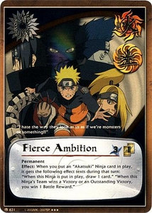 Naruto Card Game Tin Promo Single Card Super Rare 621 Fierce Ambition
