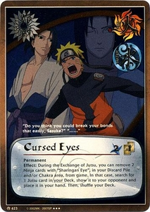 Naruto Card Game Tin Promo Single Card Super Rare 623 Cursed Eyes