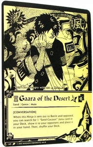 Naruto Card Game Tin Promo Single Card Super Black & Gold Rare 145 Gaara of the Desert [Conversation]