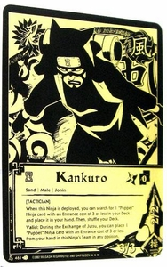 Naruto Card Game Tin Promo Single Card Super Black & Gold Rare 461 Kankuro [Tactician]