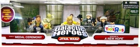 Star Wars Galactic Heroes Exclusive Deluxe Cinema Scene Mini Figure Multi Pack Yavin IV Medal Ceremony [Includes Exclusive Luke Skywalker]