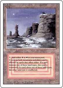 Magic the Gathering Revised Edition Single Card Rare Plateau