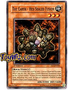 YuGiOh Flaming Eternity Single Card Common FET-EN029 The Earth - Hex - Sealed Fusion