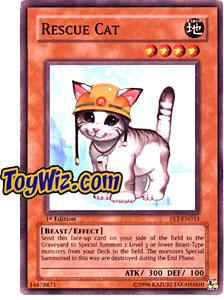 YuGiOh Flaming Eternity Single Card Common FET-EN033 Rescue Cat