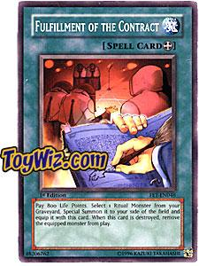 YuGiOh Flaming Eternity Single Card Common FET-EN046 Fulfillment of the Contract