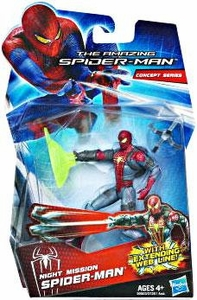 Amazing Spider-Man Movie 3.75 Inch Action Figure Night Mission Spider-Man [Extending Web Line!]